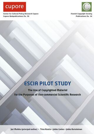 ESCIA Pilot Study: The Use of Copyrighted Material for the Purposes of Non-commercial Scientific Research