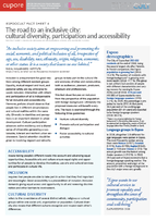 """EspooCult Fact Sheet 4: The road to an inclusive city: cultural diversity, <span class=""""highlight"""">participation</span> and accessibility&#160;..."""