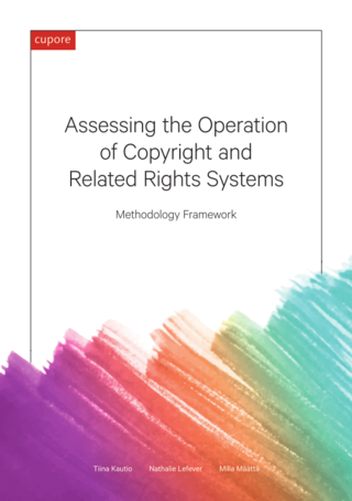 Assessing the Operation of Copyright and Related Rights Systems: Methodology Framework