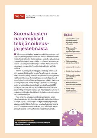 Suomalaisten näkemykset tekijänoikeusjärjestelmästä
